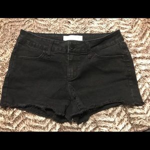 Jr Girls No Boundaries Black Denim Shorts Sz 7